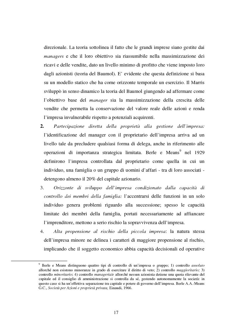 Anteprima della tesi: Piccole imprese e competitività: il ruolo dei parchi scientifici e tecnologici, Pagina 13