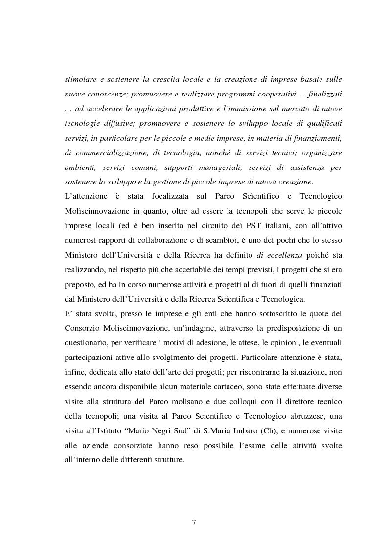 Anteprima della tesi: Piccole imprese e competitività: il ruolo dei parchi scientifici e tecnologici, Pagina 3