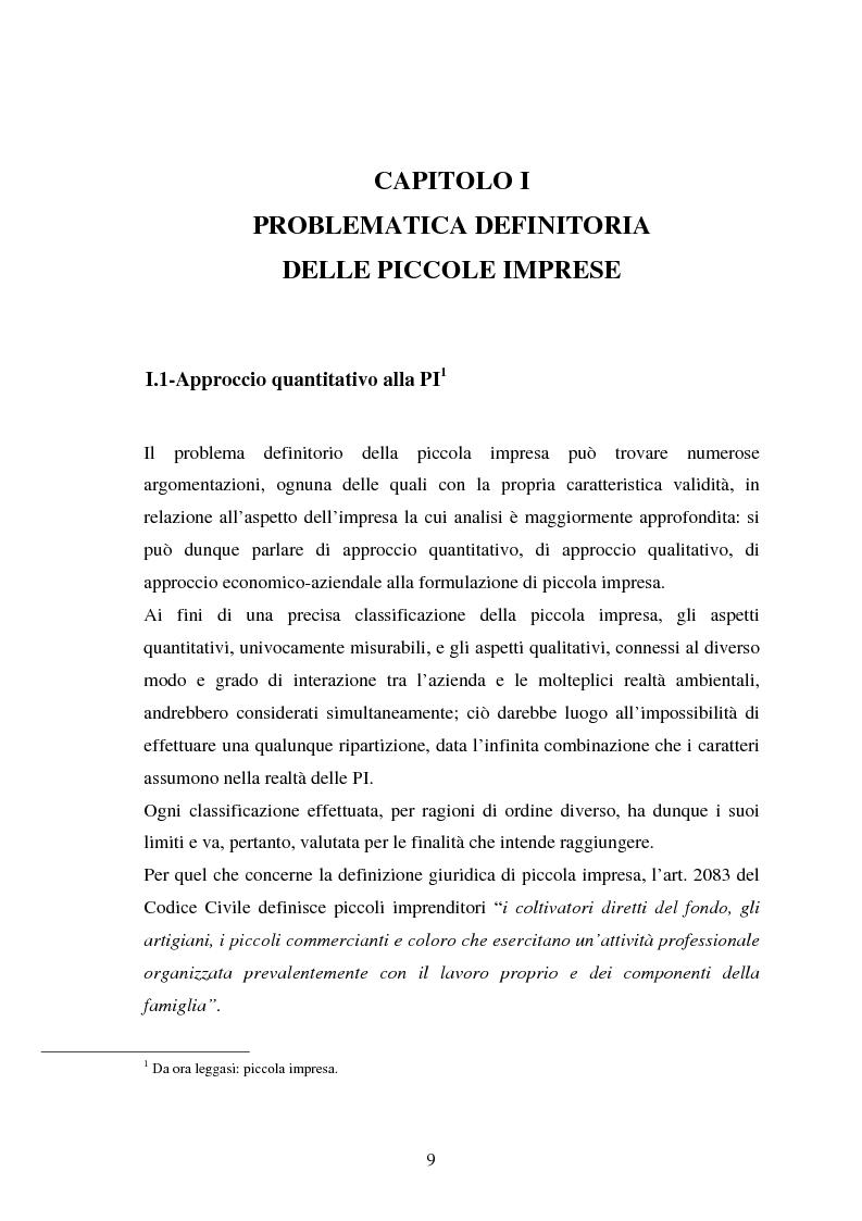 Anteprima della tesi: Piccole imprese e competitività: il ruolo dei parchi scientifici e tecnologici, Pagina 5