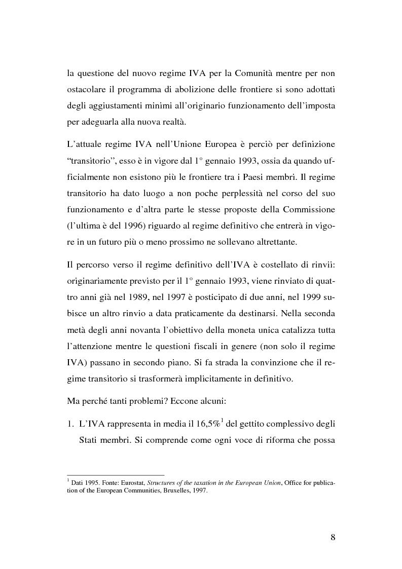 Anteprima della tesi: I problemi del regime definitivo Iva nell'Unione Europea, Pagina 2