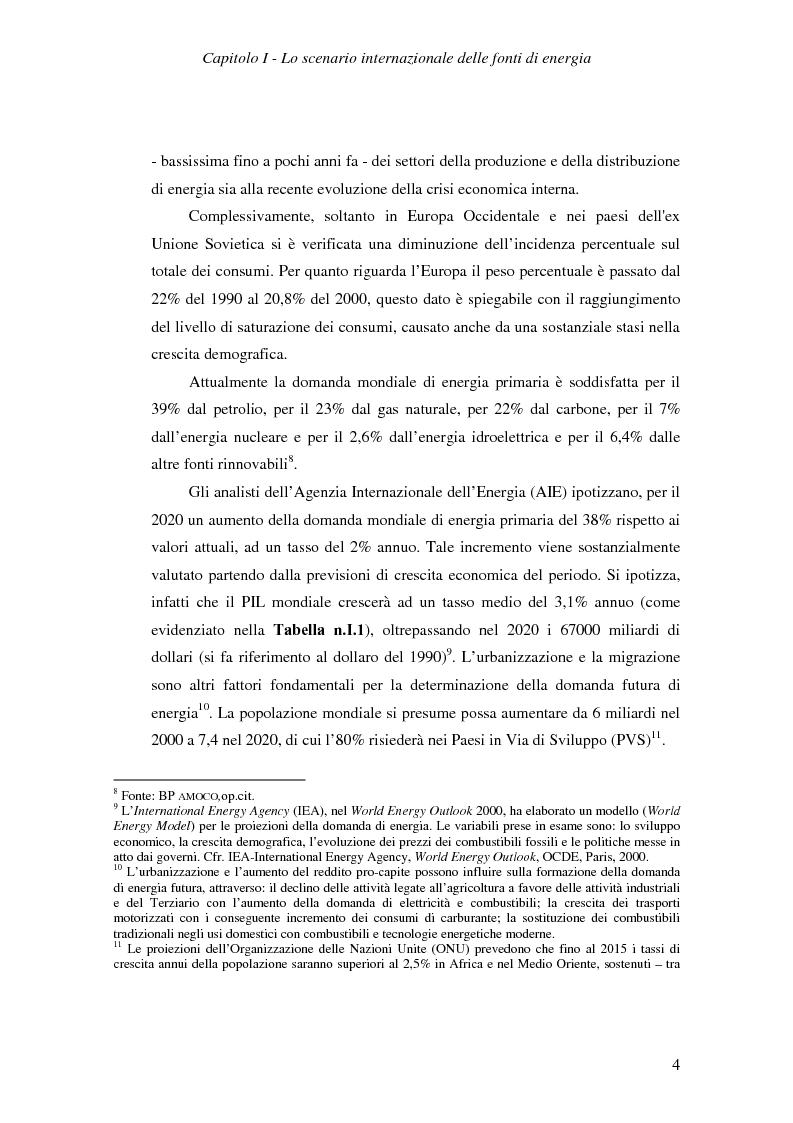 Anteprima della tesi: Ruolo del gas naturale e fonti di approvvigionamento per l'Italia, Pagina 10