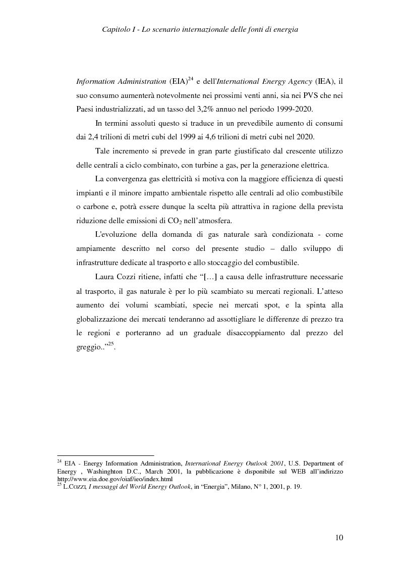Anteprima della tesi: Ruolo del gas naturale e fonti di approvvigionamento per l'Italia, Pagina 16