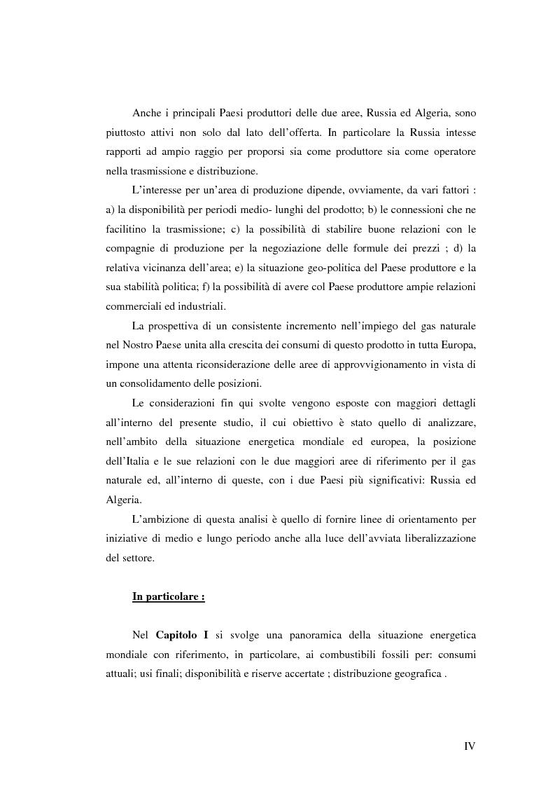 Anteprima della tesi: Ruolo del gas naturale e fonti di approvvigionamento per l'Italia, Pagina 4