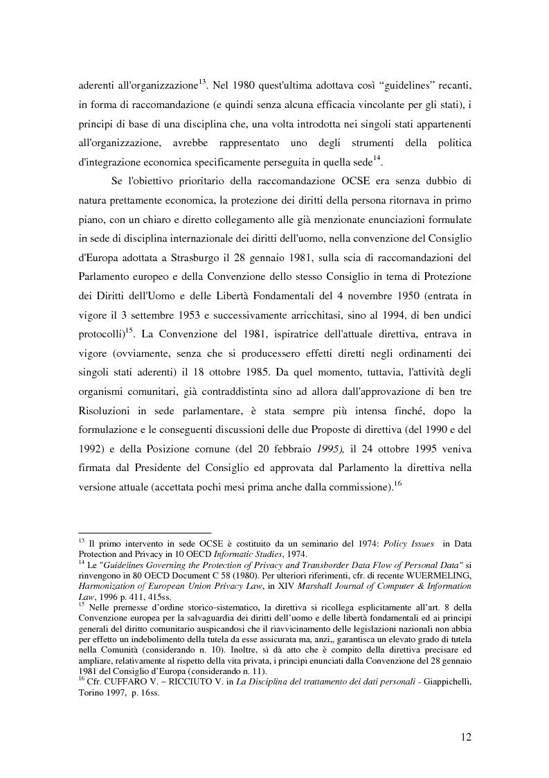 Anteprima della tesi: La tutela della privacy nella pubblica amministrazione, Pagina 11