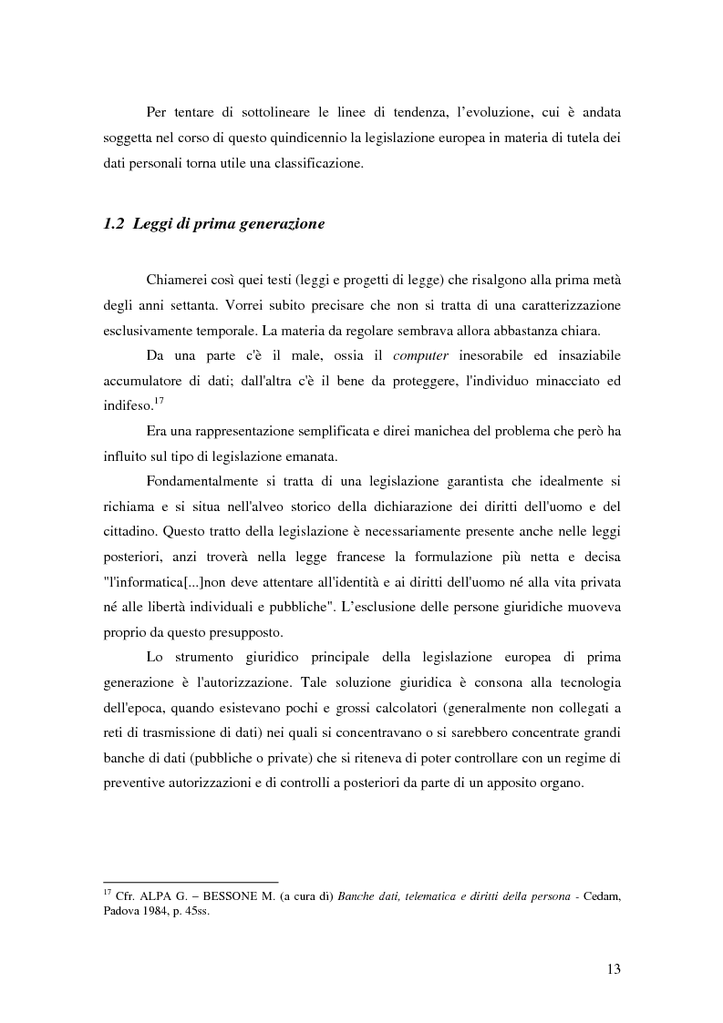 Anteprima della tesi: La tutela della privacy nella pubblica amministrazione, Pagina 12