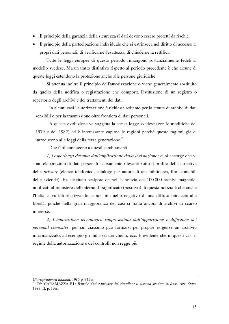 Anteprima della tesi: La tutela della privacy nella pubblica amministrazione, Pagina 14
