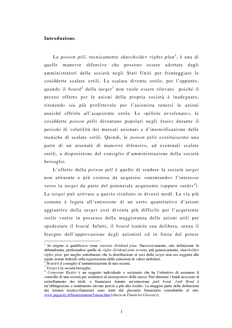Anteprima della tesi: Poison Pills, Pagina 1