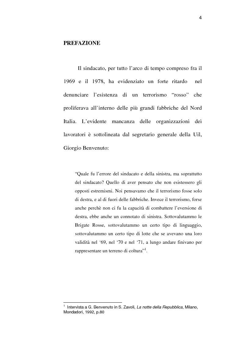 Anteprima della tesi: Sindacato e terrorismo in Italia dalla strage di piazza Fontana all'assassinio Moro, 1968-1978, Pagina 1