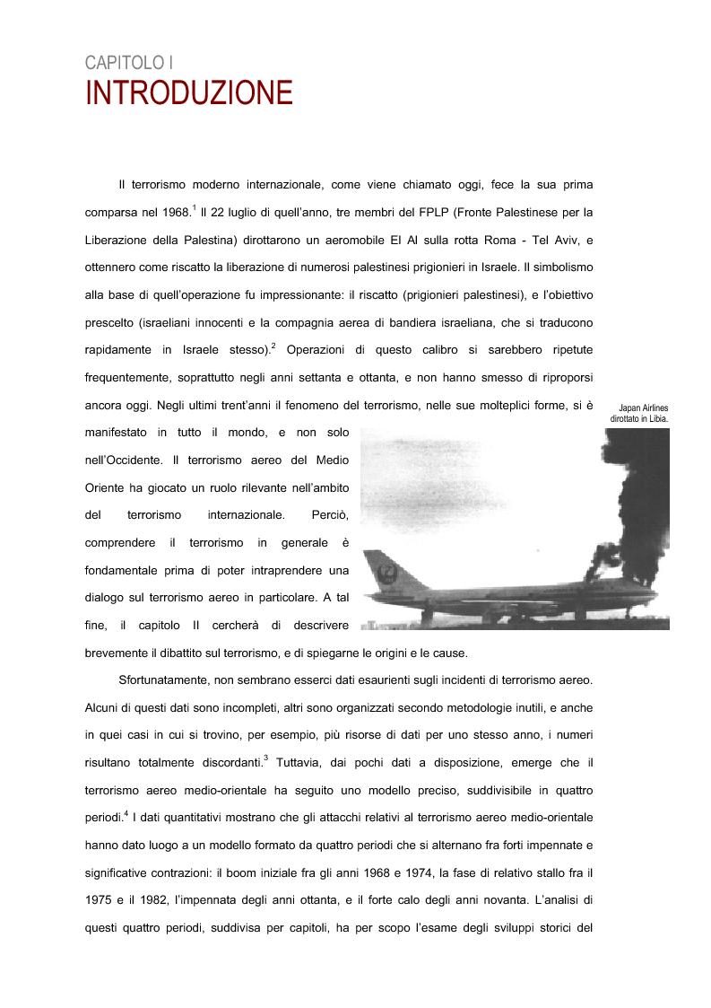 Anteprima della tesi: Il terrorismo aereo del Medio Oriente, Pagina 2