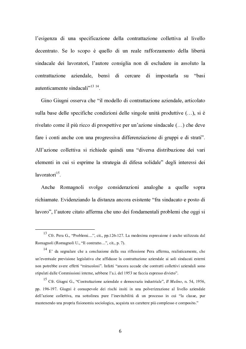 Anteprima della tesi: Il contratto collettivo aziendale, Pagina 6