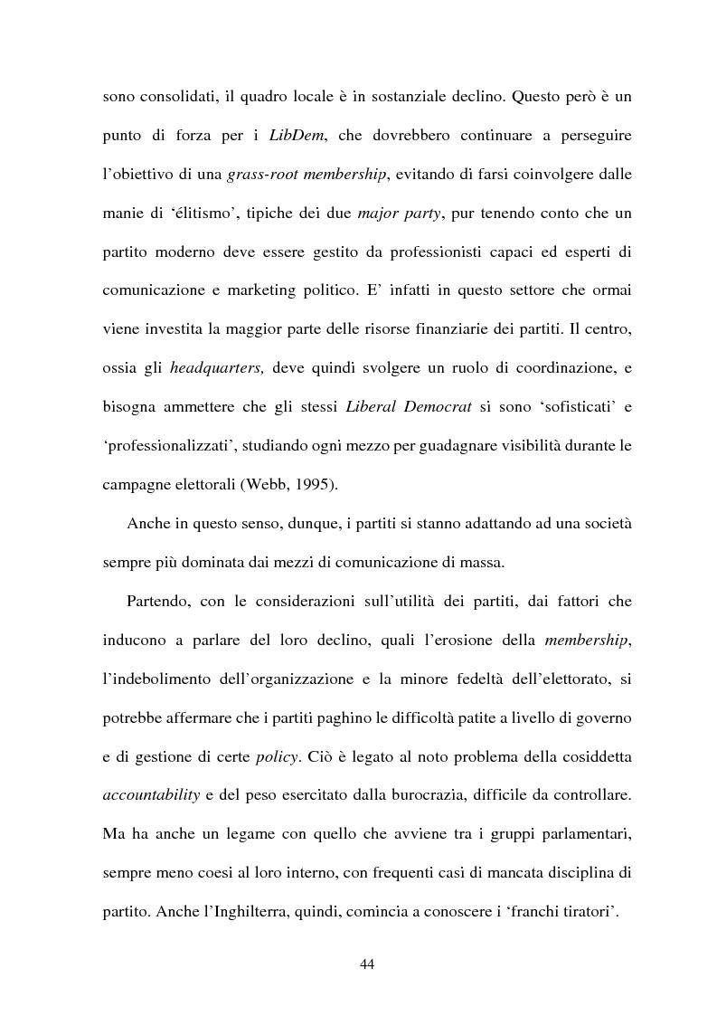 Anteprima della tesi: La difficile esistenza dei Liberal Democrat nel sistema politico inglese, Pagina 15