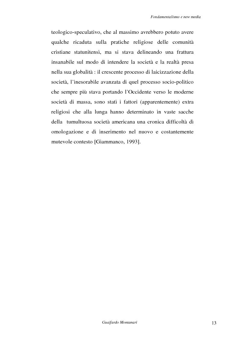 Anteprima della tesi: Fondamentalismo e new media. Un connubio impossibile?, Pagina 11