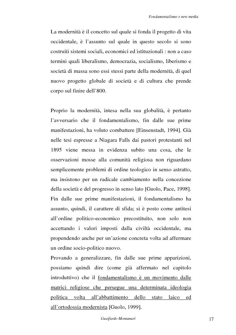 Anteprima della tesi: Fondamentalismo e new media. Un connubio impossibile?, Pagina 15