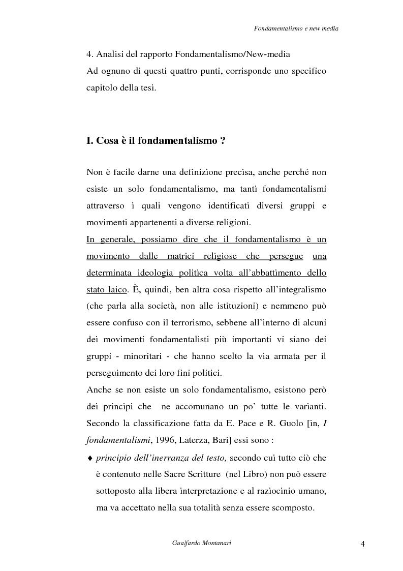 Anteprima della tesi: Fondamentalismo e new media. Un connubio impossibile?, Pagina 2