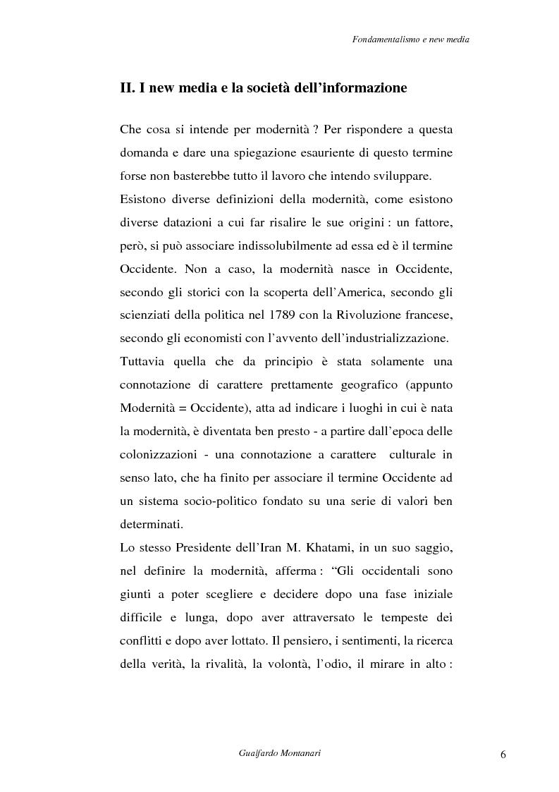 Anteprima della tesi: Fondamentalismo e new media. Un connubio impossibile?, Pagina 4