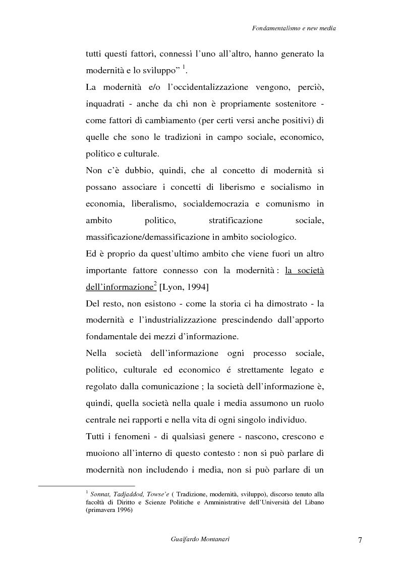 Anteprima della tesi: Fondamentalismo e new media. Un connubio impossibile?, Pagina 5