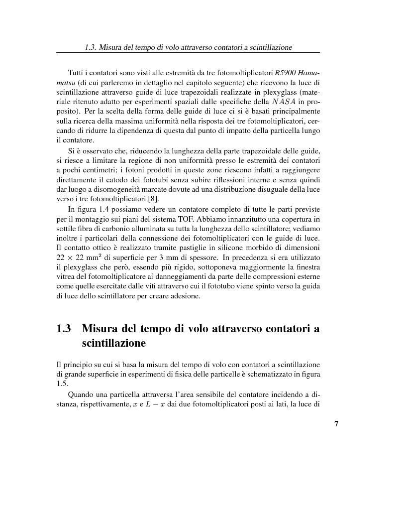 Anteprima della tesi: Calibrazione dei fotomoltiplicatori di Ama, esperimento spaziale per la ricerca dell'antimateria, Pagina 6