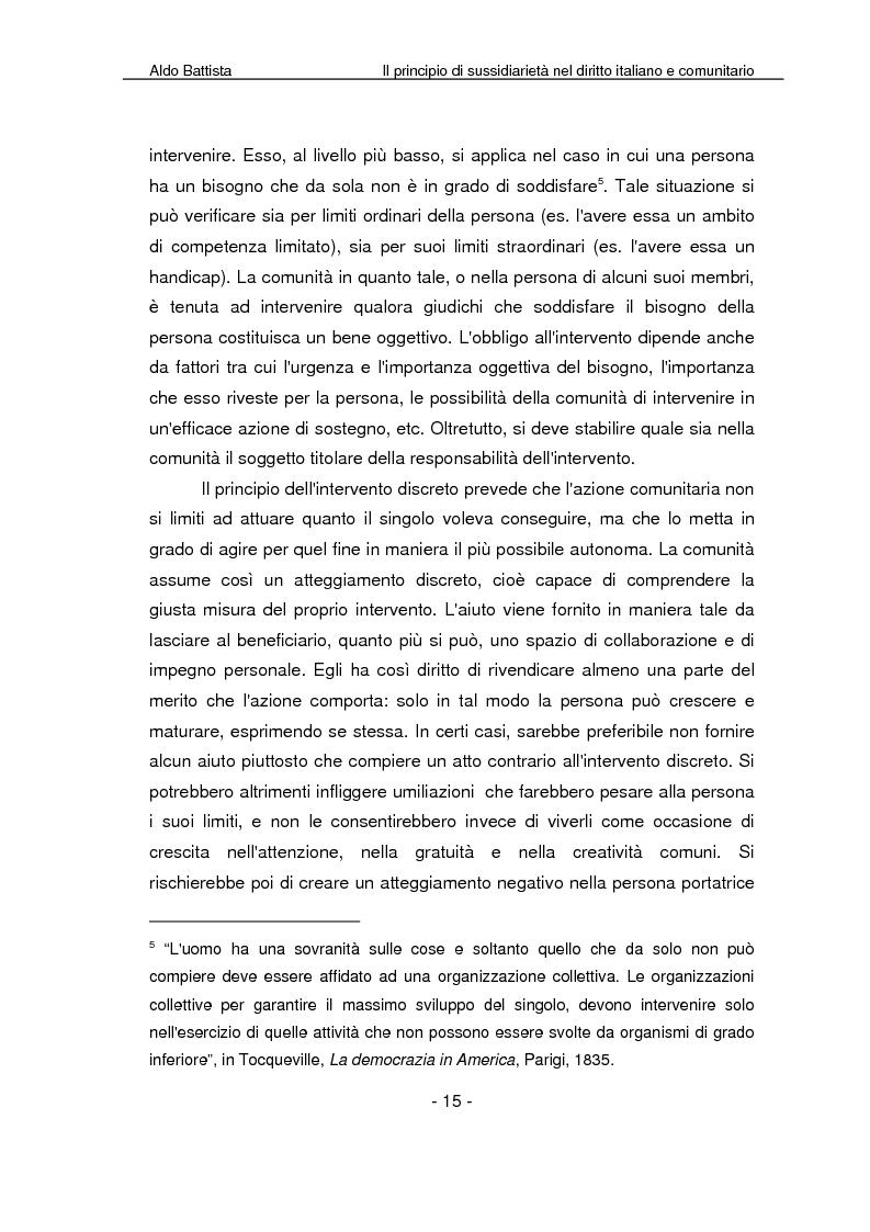 Anteprima della tesi: Il principio di sussidiarietà nel diritto italiano e comunitario, Pagina 10