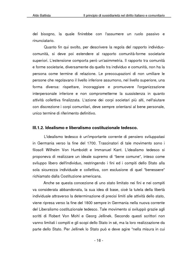 Anteprima della tesi: Il principio di sussidiarietà nel diritto italiano e comunitario, Pagina 11