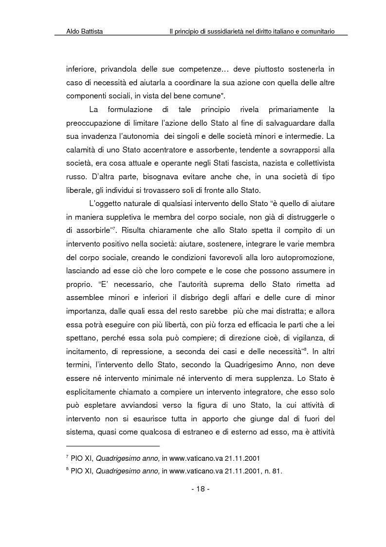 Anteprima della tesi: Il principio di sussidiarietà nel diritto italiano e comunitario, Pagina 13