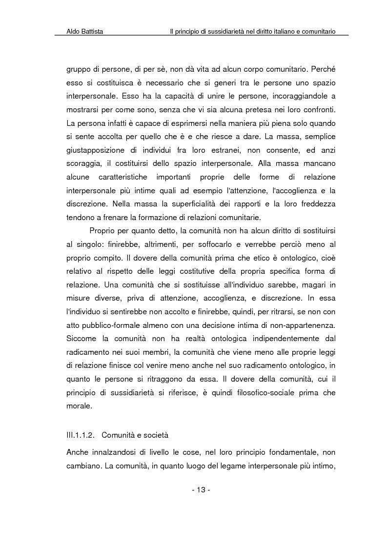 Anteprima della tesi: Il principio di sussidiarietà nel diritto italiano e comunitario, Pagina 8