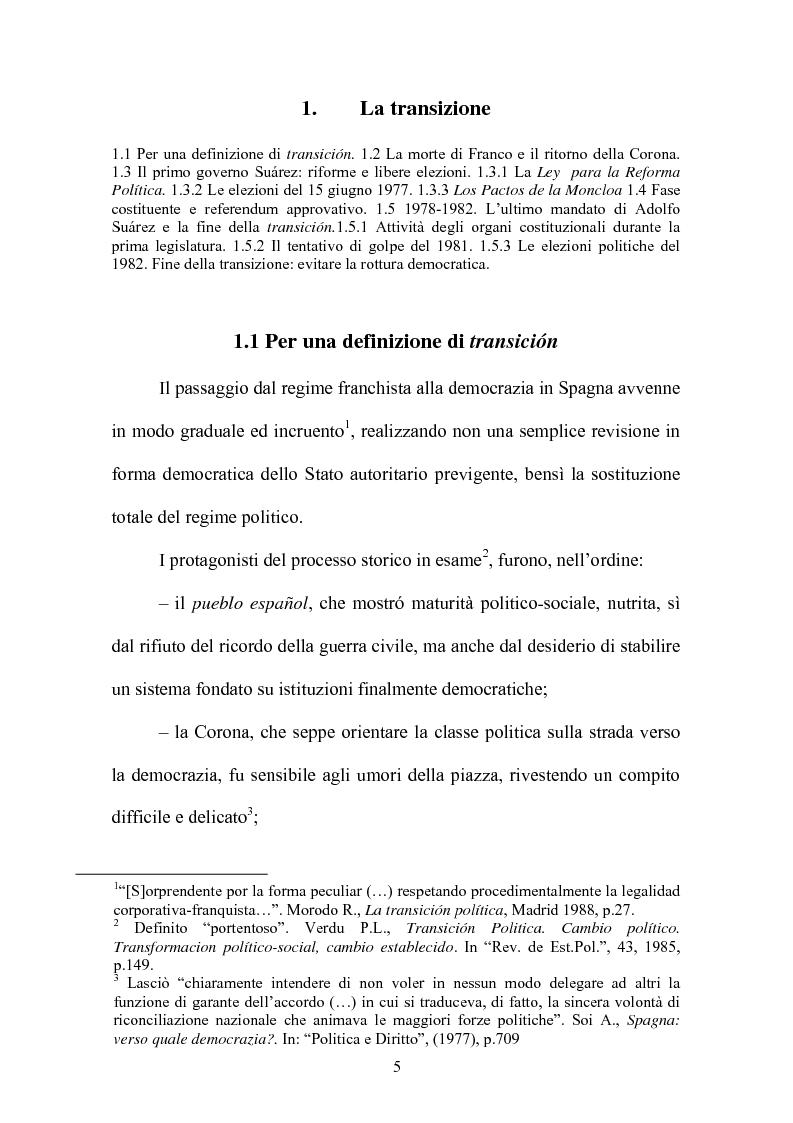 Anteprima della tesi: Il rapporto fiduciario nella forma di governo parlamentare spagnola, Pagina 2