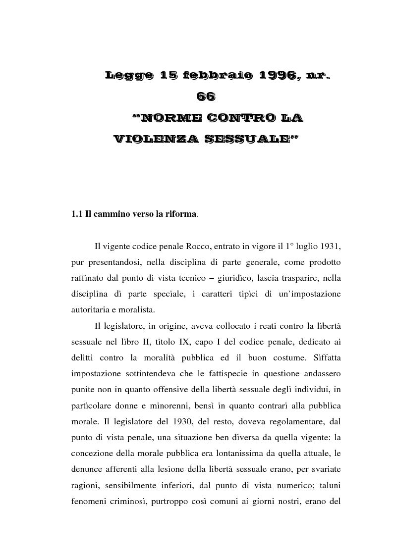 Anteprima della tesi: Trattamento penale e penitenziario dei condannati per reati sessuali, Pagina 4