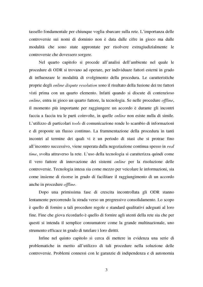 Anteprima della tesi: Gli Adr come alternativa alle controversie su Internet, Pagina 3