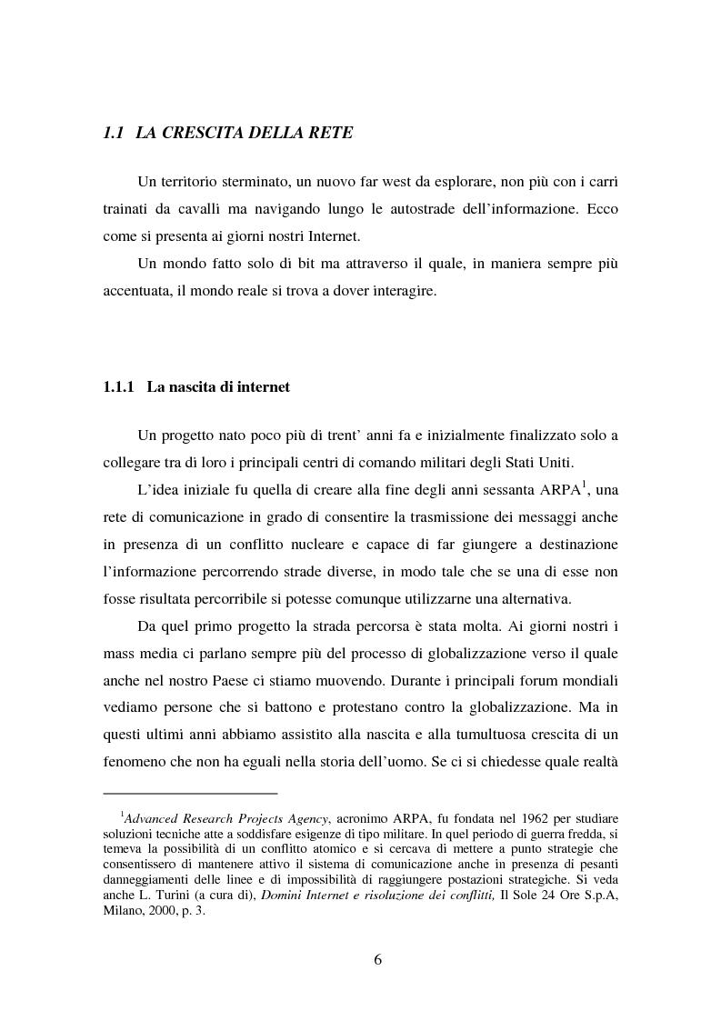 Anteprima della tesi: Gli Adr come alternativa alle controversie su Internet, Pagina 6