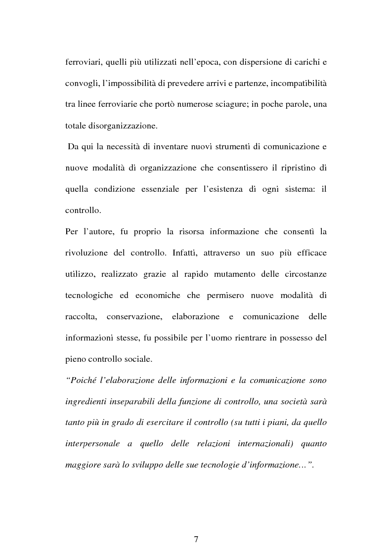 Anteprima della tesi: La società dell'informazione e la tutela della privacy nell'ordinamento internazionale e comunitario, Pagina 13