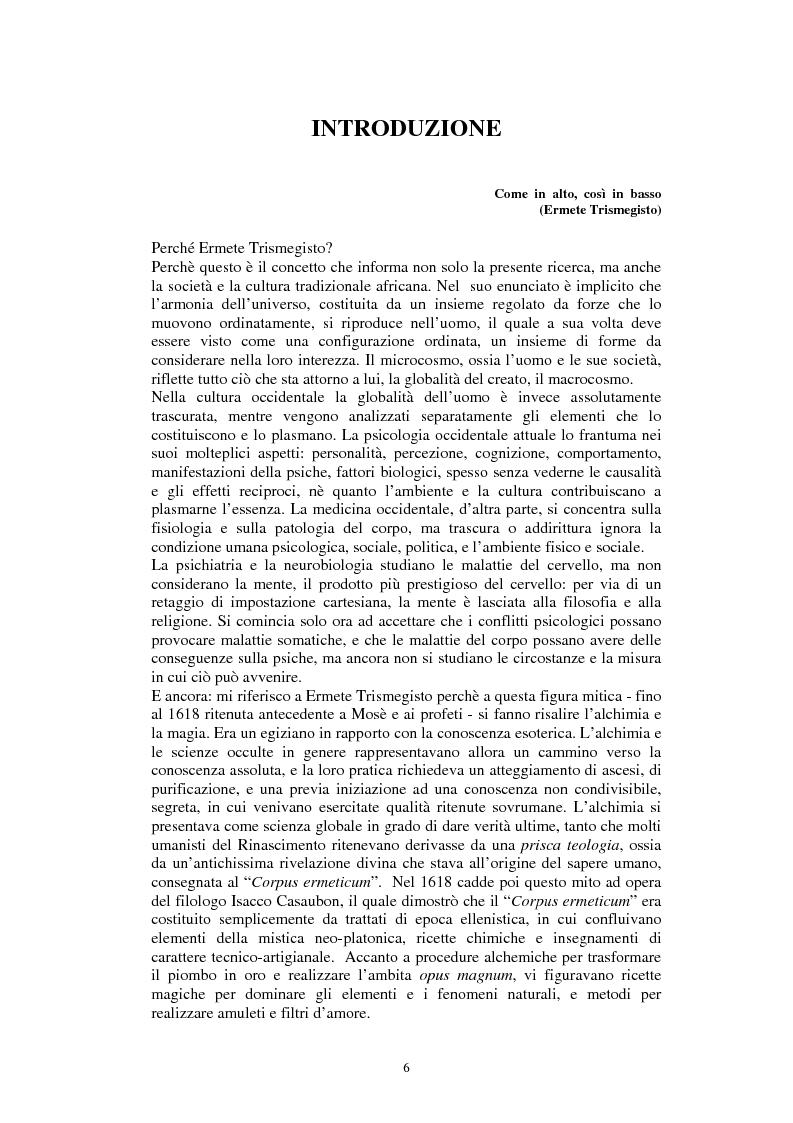 Anteprima della tesi: Stregoneria e etnopsichiatria nell'Africa Nera, Pagina 1