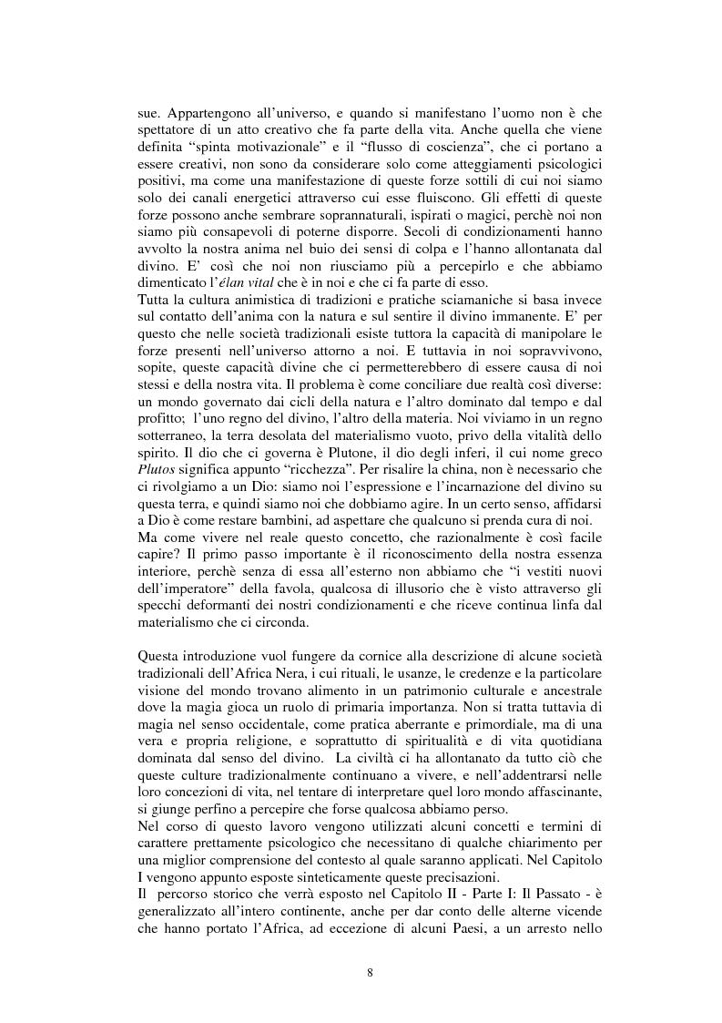 Anteprima della tesi: Stregoneria e etnopsichiatria nell'Africa Nera, Pagina 3