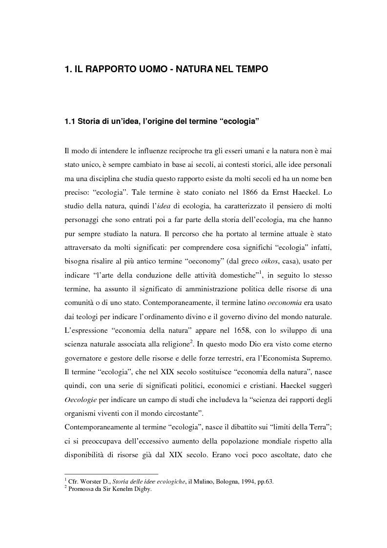 Anteprima della tesi: Il turismo sostenibile e l'impresa alberghiera: casi italiani e inglesi, Pagina 1
