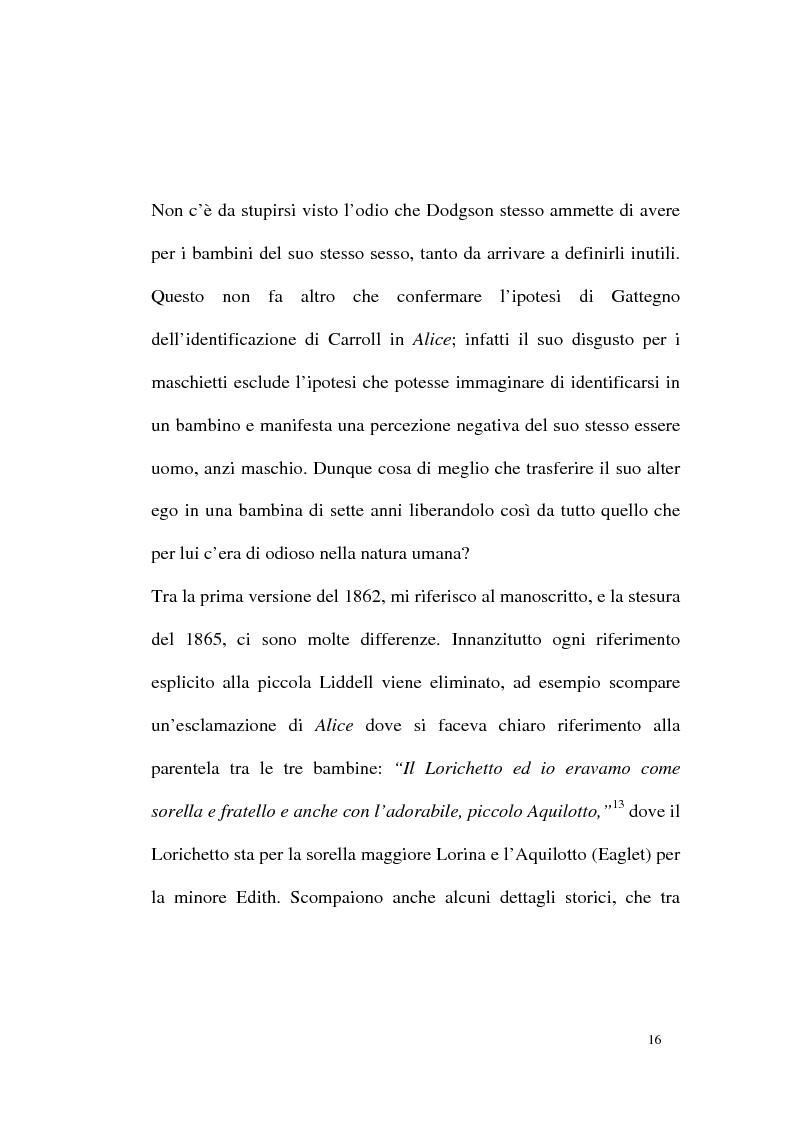 Anteprima della tesi: Alice tra senso e non senso. Studio su Lewis Carroll, Pagina 12