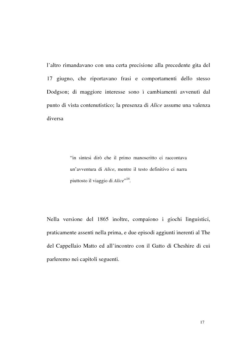 Anteprima della tesi: Alice tra senso e non senso. Studio su Lewis Carroll, Pagina 13