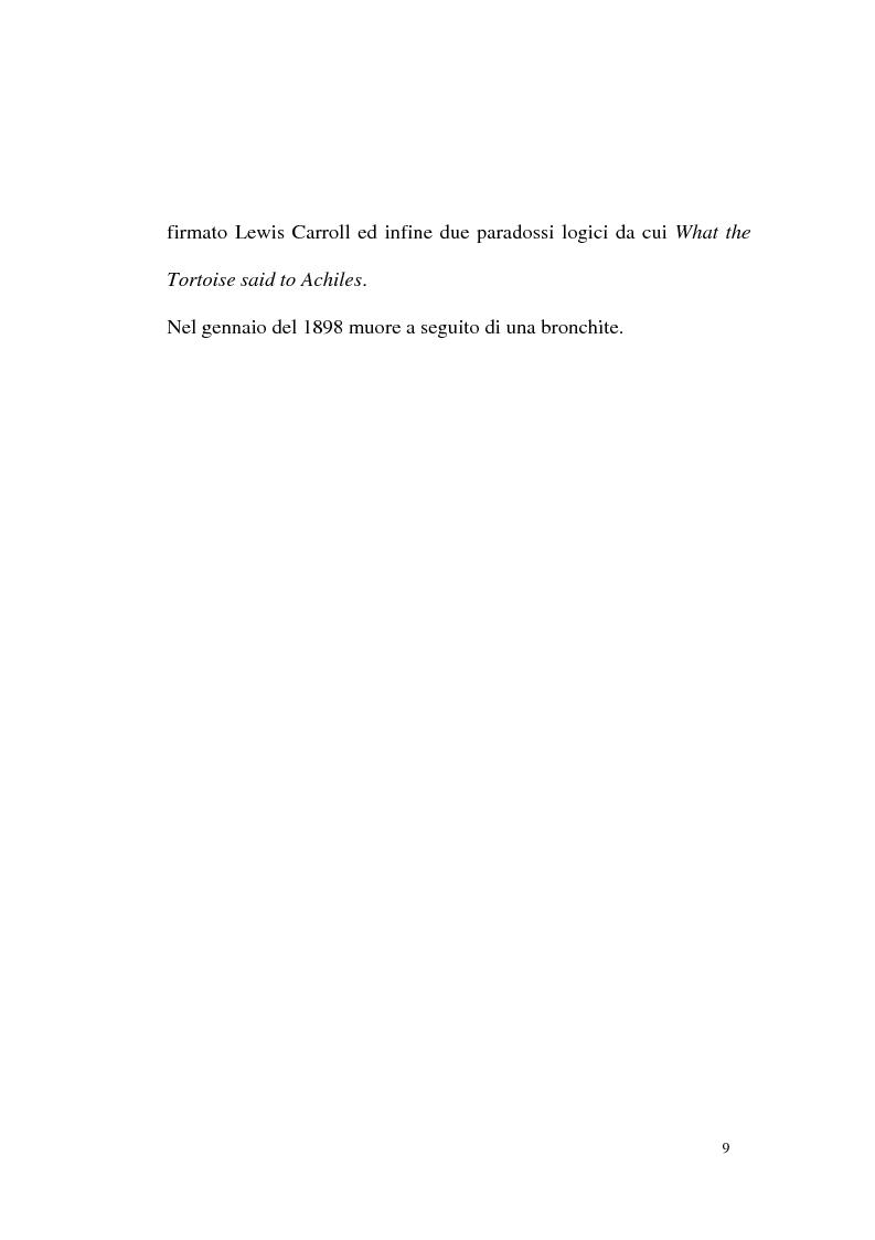 Anteprima della tesi: Alice tra senso e non senso. Studio su Lewis Carroll, Pagina 5