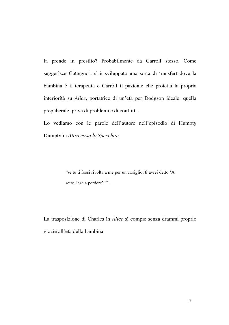 Anteprima della tesi: Alice tra senso e non senso. Studio su Lewis Carroll, Pagina 9