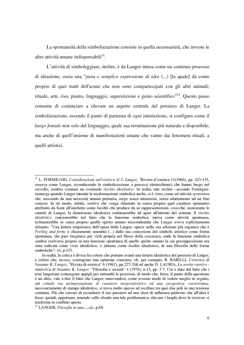 Anteprima della tesi: L'estetica simbolica in Susan K. Langer, Pagina 12