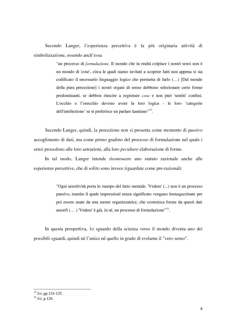 Anteprima della tesi: L'estetica simbolica in Susan K. Langer, Pagina 14