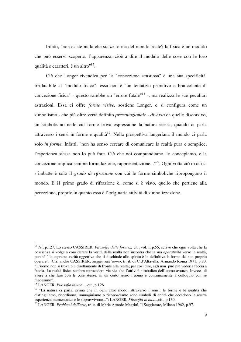 Anteprima della tesi: L'estetica simbolica in Susan K. Langer, Pagina 15