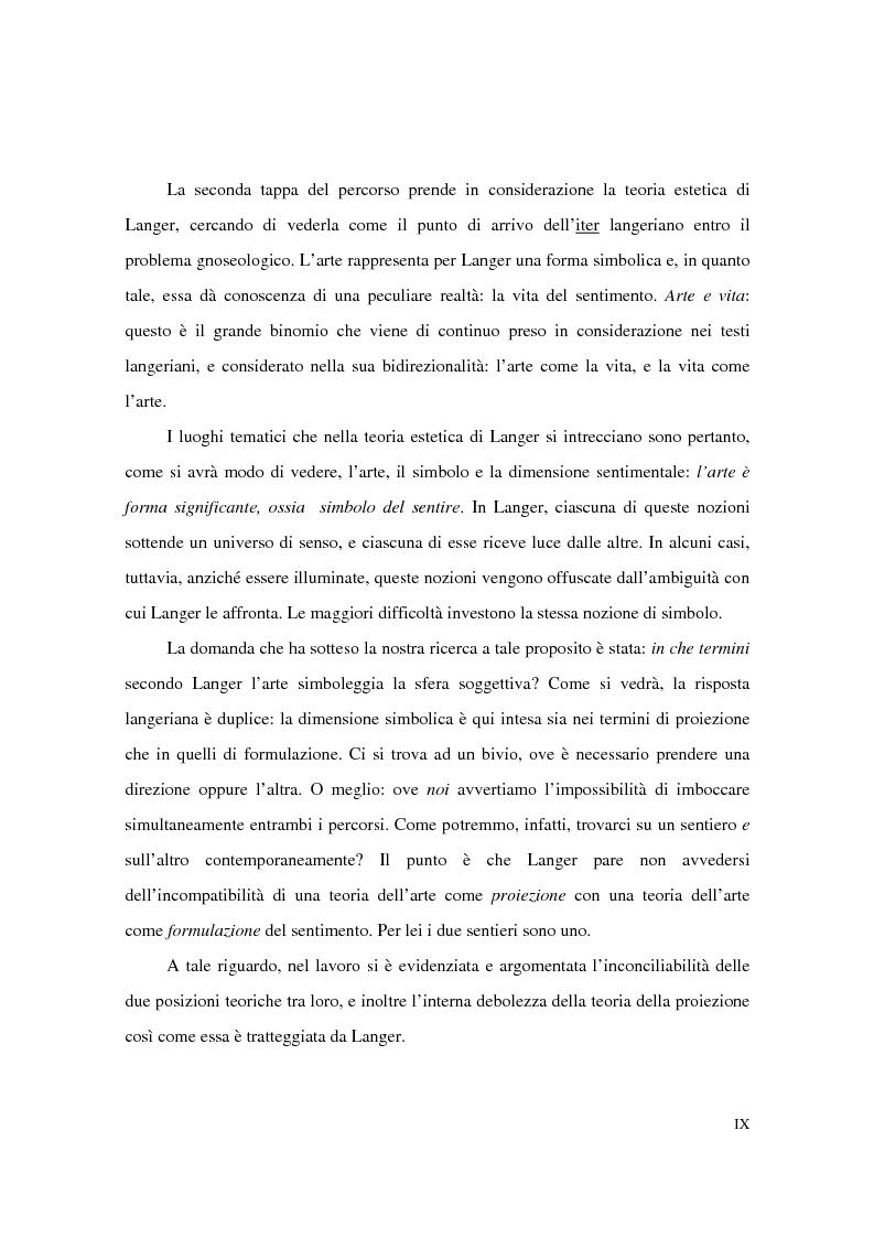 Anteprima della tesi: L'estetica simbolica in Susan K. Langer, Pagina 5