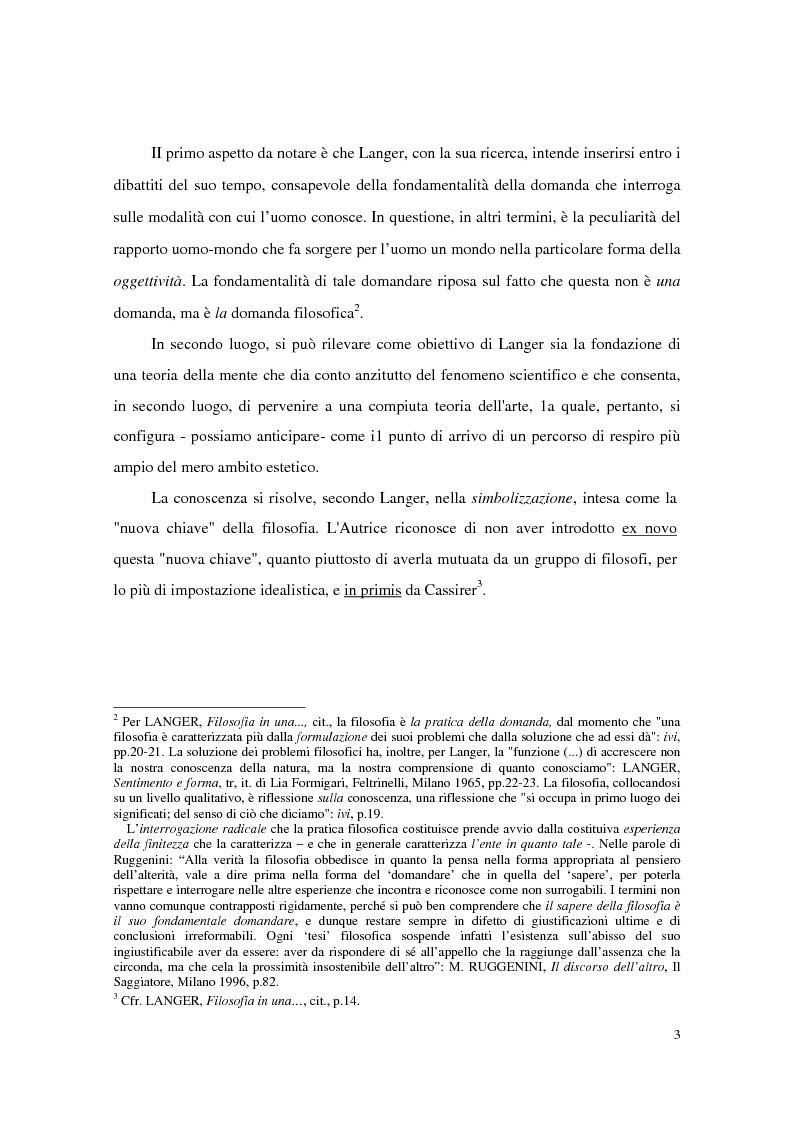 Anteprima della tesi: L'estetica simbolica in Susan K. Langer, Pagina 9