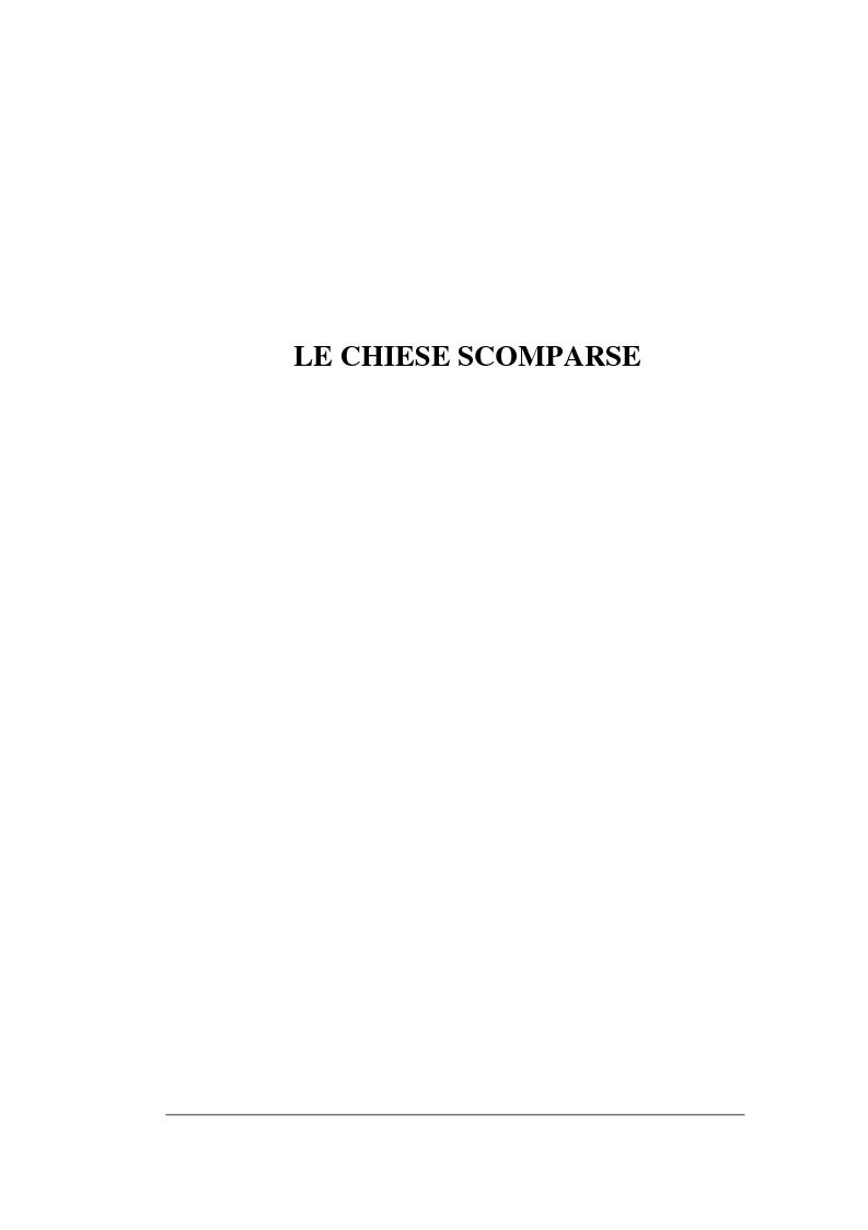 Anteprima della tesi: Le chiese cristiane scomparse nel rione Monti, tra il IV e il VI secolo, Pagina 1