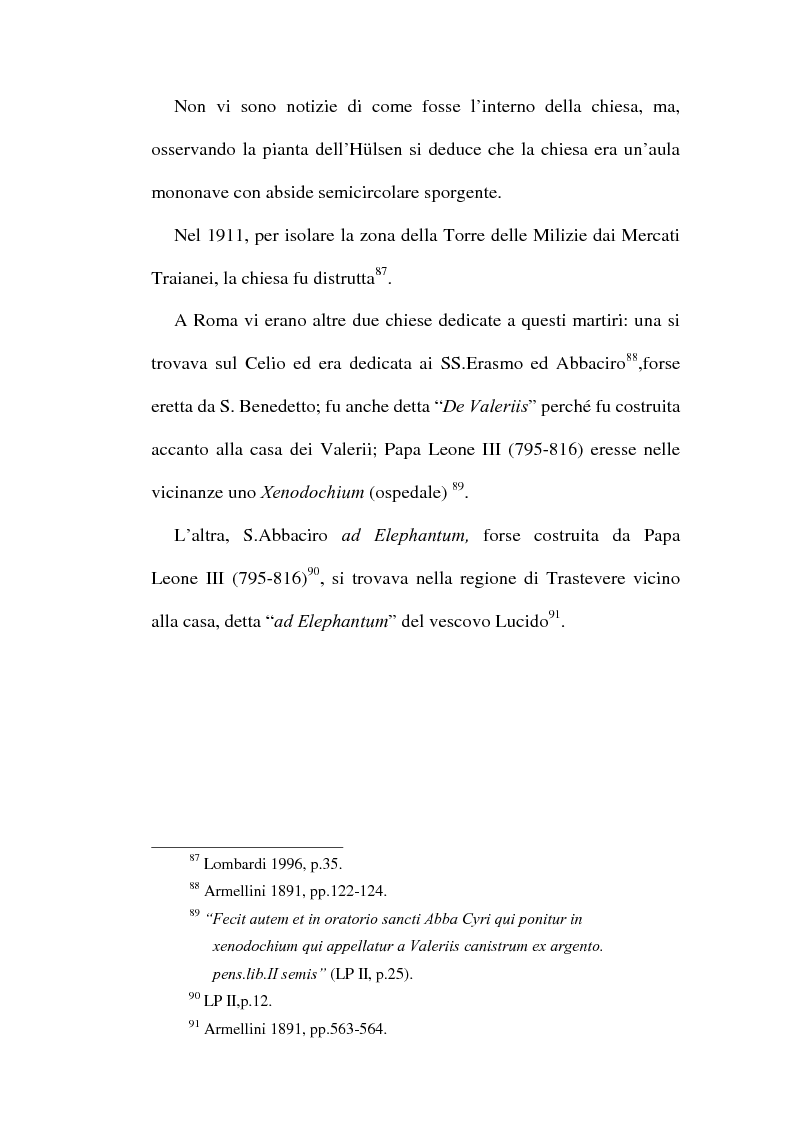 Anteprima della tesi: Le chiese cristiane scomparse nel rione Monti, tra il IV e il VI secolo, Pagina 4
