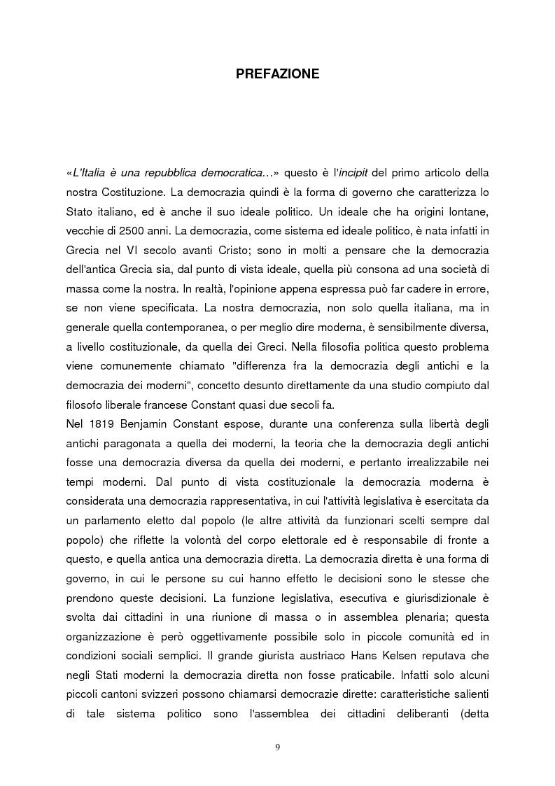 Anteprima della tesi: La democrazia ateniese. Un modello per la democrazia moderna, Pagina 1