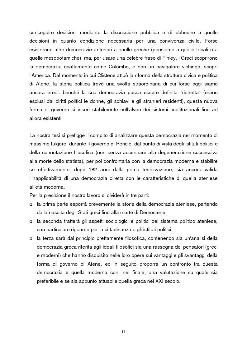 Anteprima della tesi: La democrazia ateniese. Un modello per la democrazia moderna, Pagina 3