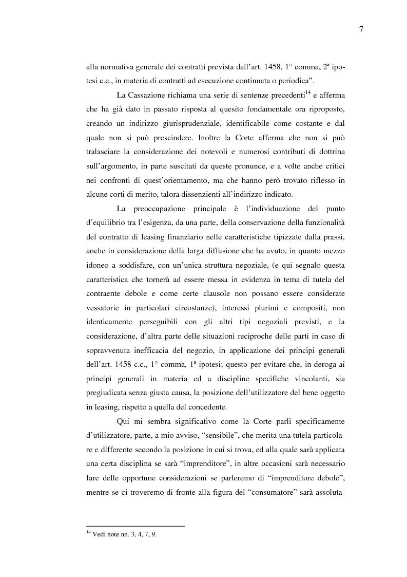 Anteprima della tesi: Costi e benefici secondo i differenti profili giuridici, contabili e tributari delle posizioni delle parti nei contratti di leasing, Pagina 11