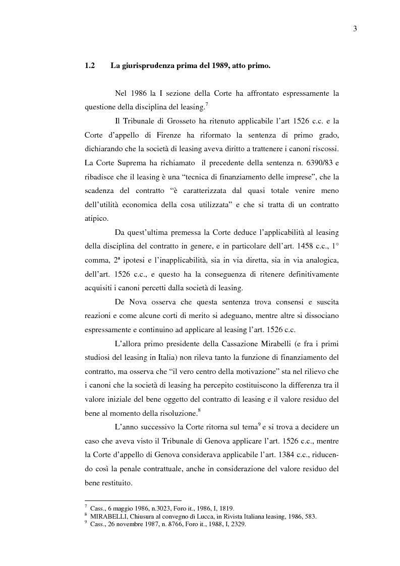 Anteprima della tesi: Costi e benefici secondo i differenti profili giuridici, contabili e tributari delle posizioni delle parti nei contratti di leasing, Pagina 7