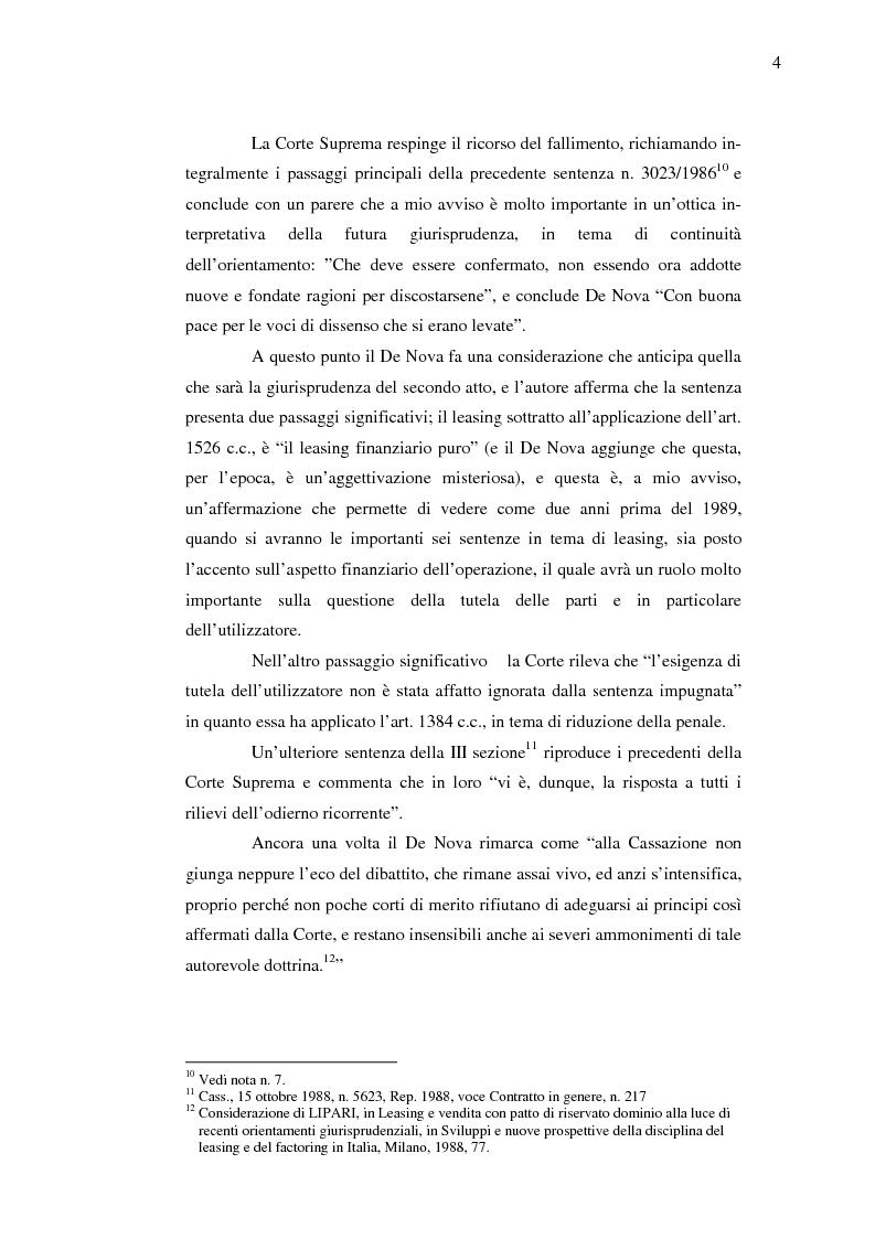 Anteprima della tesi: Costi e benefici secondo i differenti profili giuridici, contabili e tributari delle posizioni delle parti nei contratti di leasing, Pagina 8