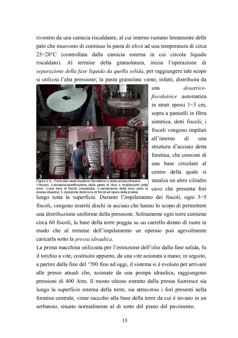 Anteprima della tesi: Valutazione della qualità di oli extravergini di oliva, ottenuti con diverse tecniche di estrazione, in relazione al contenuto di sotanze a struttura fenolica, Pagina 15